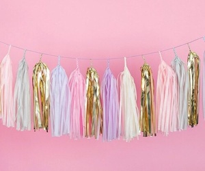 pink, gold, and pastel image