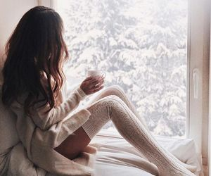 beauty, white, and coffe image