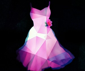 diamond, dress, and pink image