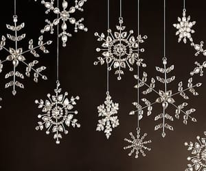christmas, snowflakes, and tree ornaments image