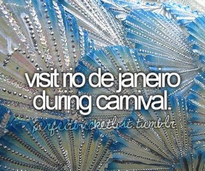 brazil, carnival, and bucket list image