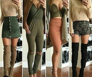 fashion, green, and outfits image