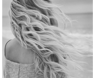 b&w, beach, and black and white image