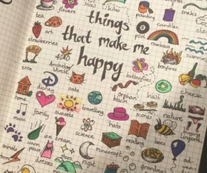 colours, diary, and happy image