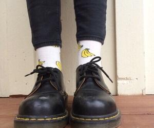 grunge, banana, and shoes image
