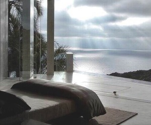 bedroom, view, and luxury image