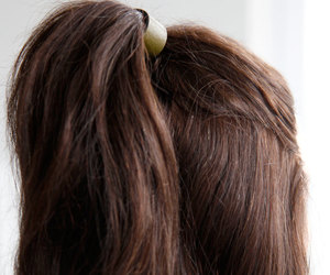 pony tail holder, leather ponytail wrap, and leather hair cuff image