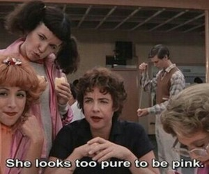 grease, pink, and movie image