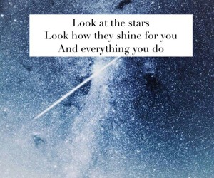 coldplay, Parachutes, and stars image
