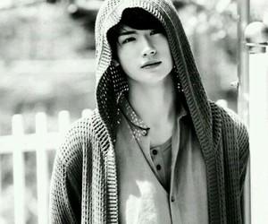 handsome, Miura Haruma, and black and white image
