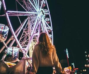girl and night image