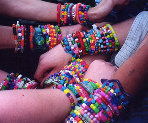 bracelet, colorful, and rave image