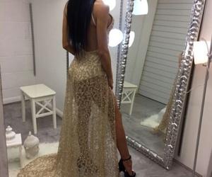 girl, dress, and beauty image