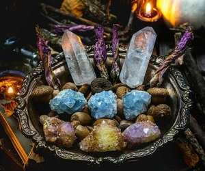 acorns, crystal, and crystals image