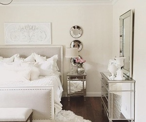 bedroom, carpet, and chic image