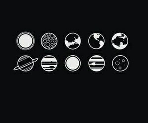 planet, space, and black image