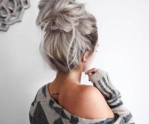 gray hair, hair, and messy hair image