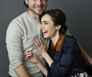 lily collins and alden ehrenreich image