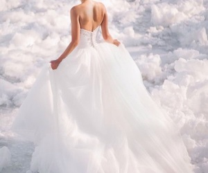 white, princess, and dress image