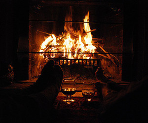 fire, christmas, and cozy image