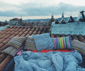roof, love, and view image