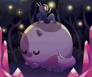 cake, adventure time, and fireflies image