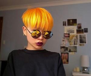 hair, orange, and short hair image
