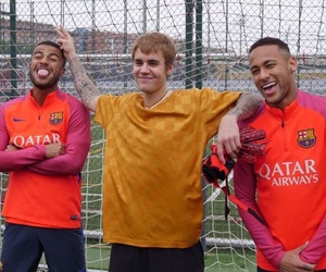 justin bieber, Barcelona, and football image