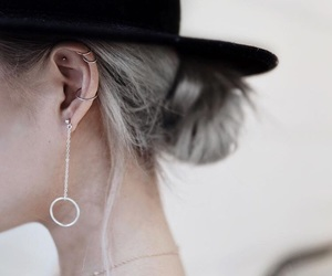 beauty, Piercings, and hat image