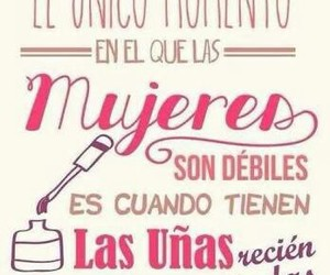 mujeres, nails, and frases image