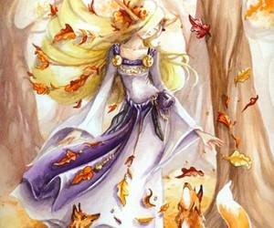 girl, elf, and orange image