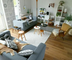 bedroom, bright, and living room image
