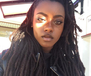 girl, dreads, and makeup image