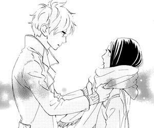 manga, hirunaka no ryuusei, and black and white image