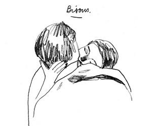 kiss, art, and love image