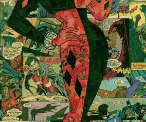 harley quinn, comic, and batman image