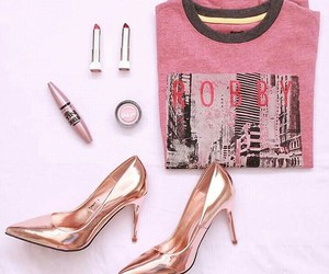 fashion, pink, and ootd image