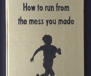 mess, book, and run image