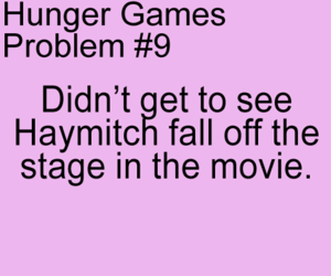the hunger games, hunger games, and haymitch image