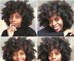 brown skin, natural hair, and pretty hair image