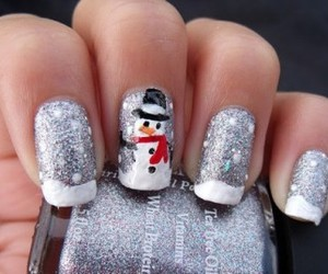 nails, snow, and snowman image
