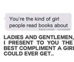 book, compliment, and fangirl image