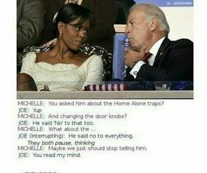 funny, joe biden, and michelle obama image