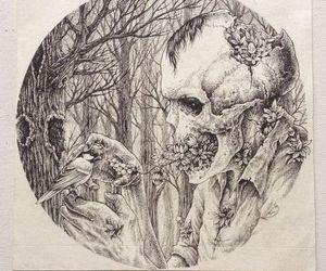 art, cool, and creepy image