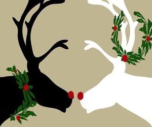 christmas, wallpaper, and reindeer image