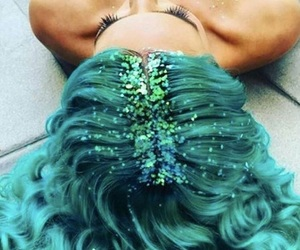 glitter, hair, and beauty image