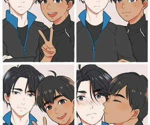 anime, yuri on ice, and phichit chulanont image