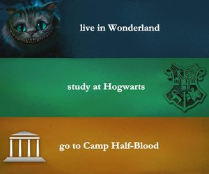 alice in wonderland, harry potter, and world image