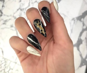 nails, black, and YSL image