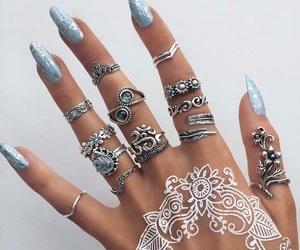 nails, rings, and henna image
